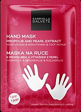 Düfte, Parfümerie und Kosmetik Feuchtigkeitsspendende regenerierende und aufhellende Maske in Handschuh-Form mit Propolis und Perlenextrakt - Gabriella Salvete Hand Mask Propolis And Pearl Extract