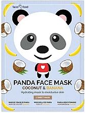 Düfte, Parfümerie und Kosmetik Feuchtigkeitsspendende Tuchmaske mit Bananen- und Kokosnussextrakt - 7th Heaven Face Food Panda Face Mask Coconut & Banana