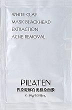 Düfte, Parfümerie und Kosmetik Gesichtsmaske mit weißew Ton gegen Akne - Pil'Aten White Clay Mask Blackhead Extraction Acne Removal (Probe)
