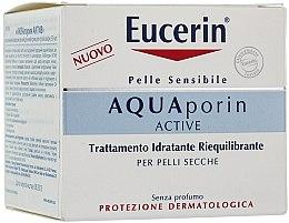 Düfte, Parfümerie und Kosmetik Tief feuchtigkeitsspendende Gesichtscreme für trockene Haut - Eucerin AquaPorin Active Deep Long-lasting Hydration For Dry Skin