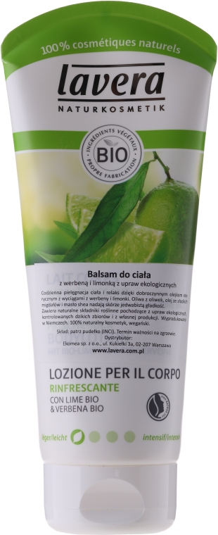 Erfrischende Körperlotion mit Limette und Verbene - Lavera Organic Lime & Verbena Body Lotion