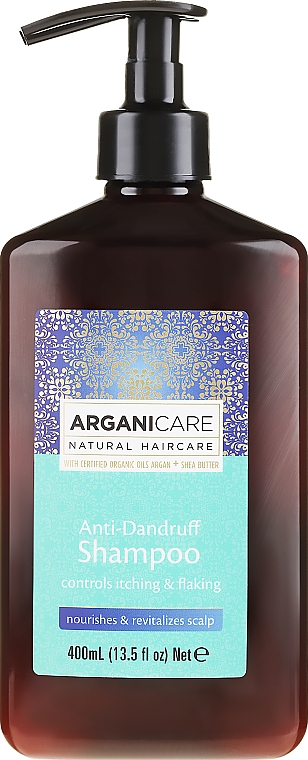 Anti-Schuppen Shampoo mit Sheabutter und Arganöl - Arganicare Shea Butter Anti-Dandruff Shampoo