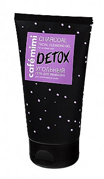 Entgiftendes Gesichtswaschgel mit schwarzer Kohle - Cafe Mimi Detox