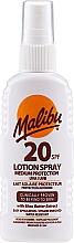Düfte, Parfümerie und Kosmetik Sonnenschutzspray mit Sheabutter-Extrakt SPF 20 - Malibu Lotion Spray SPF20