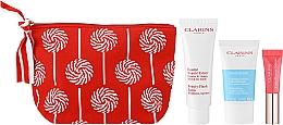 Düfte, Parfümerie und Kosmetik Gesichtspflegeset - Clarins Baume Beaute Eclair Set (Revitalisierender Balsam 50ml + Gesichtspeeling 15ml + Lipgloss 5ml + Kosmetiktasche)
