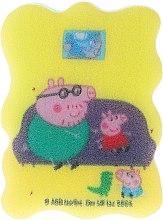 Düfte, Parfümerie und Kosmetik Kinder-Badeschwamm Peppa Pig George und Daddy Pig - Suavipiel Peppa Pig Bath Sponge