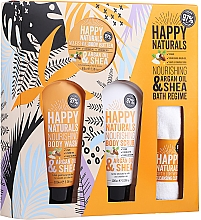 Düfte, Parfümerie und Kosmetik Körperpflegeset - Dirty Works Happy Naturals (Duschgel 100ml + Körperbutter 100ml + Körperpeeling 100ml + Handtuch)