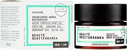Düfte, Parfümerie und Kosmetik Feuchtigkeitsspendende Gesichtscreme mit Hanf- und Traubenkernöl - Beaute Mediterranea Hemp Line Cream Super Green Moisturizer