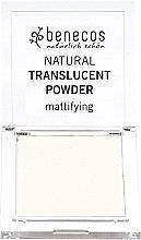 Düfte, Parfümerie und Kosmetik Transparenter mattierender Gesichtspuder - Benecos Natural Translucent Powder Mission Invisible