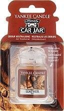 Düfte, Parfümerie und Kosmetik Auto-Lufterfrischer Leather - Yankee Candle Car Jar Ultimate Leather