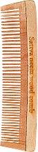 Düfte, Parfümerie und Kosmetik Holziger Haarkamm 19 cm - Sattva Neem Wood Comb