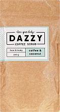 Düfte, Parfümerie und Kosmetik Gesichts- und Körperpeeling mit Kaffee und Kokosnuss - Dazzy Coffee Face & Body Scrub Coffee & Cocos