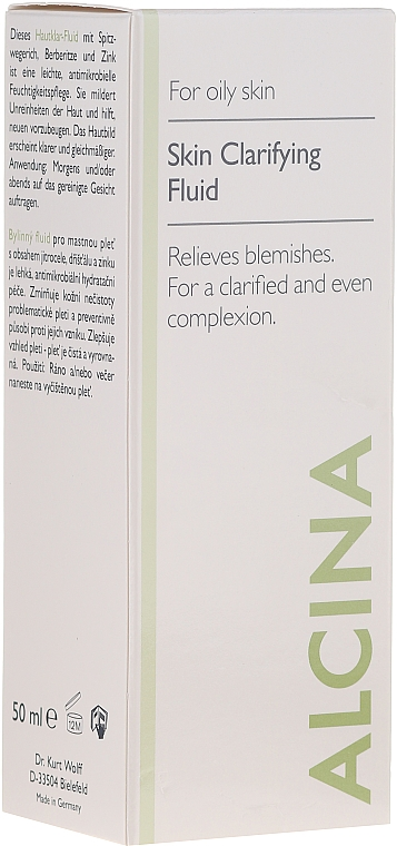 Hautklar-Fluid für fettige Haut - Alcina FM Skin Clarifying Fluid — Bild N1