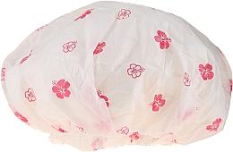 Düfte, Parfümerie und Kosmetik Duschhaube 9298 Weiße und rosa Blumen - Donegal Shower Cap