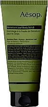 Düfte, Parfümerie und Kosmetik Körperpeeling mit Geranienblättern - Aesop Geranium Leaf Body Scrub