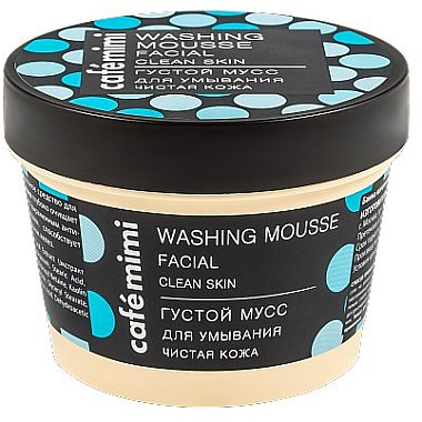 Gesichtsreinigungsmousse mit Salbei-Extrakt und blauer Tonerde für reine Haut - Cafe Mimi Washing Mousse Facial Clean Skin