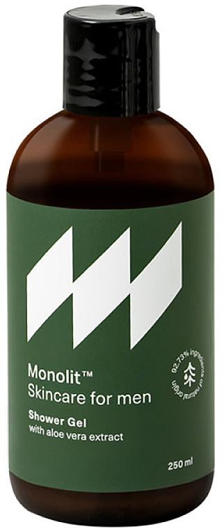 Duschgel für Männer mit Aloe Vera-Extrakt  - Monolit Skincare For Men Shower Gel With Aloe Vera Extract — Bild N1