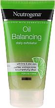 Düfte, Parfümerie und Kosmetik Balancierendes Gesichtspeeling mit Limette und Aloe Vera - Neutrogena Oil Balancing Daily Exfoliator