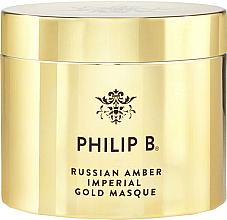 Düfte, Parfümerie und Kosmetik Regenerierende Haarmaske mit marokkanischem Mandelöl - Philip B Russian Amber Imperial Gold Masque