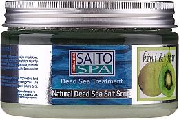 Düfte, Parfümerie und Kosmetik Salzpeeling für den Körper mit Salz aus dem Toten Meer und Kiwi- und Birnenduft - Saito Spa Aalt Body Scrub Kiwi Pear