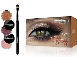 Düfte, Parfümerie und Kosmetik Augen Make-up Set (3x Lidschatten + Lidschattenpinsel) - Bellapierre Eye Slay Kit Romantic Brown
