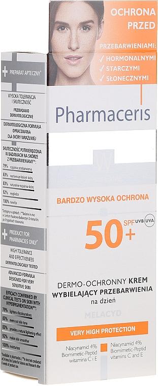 Aufhellende und schützende Tagescreme für das Gesicht mit Niacinamid SPF 50+ - Pharmaceris W Whitening Dermo-Protective Day Cream