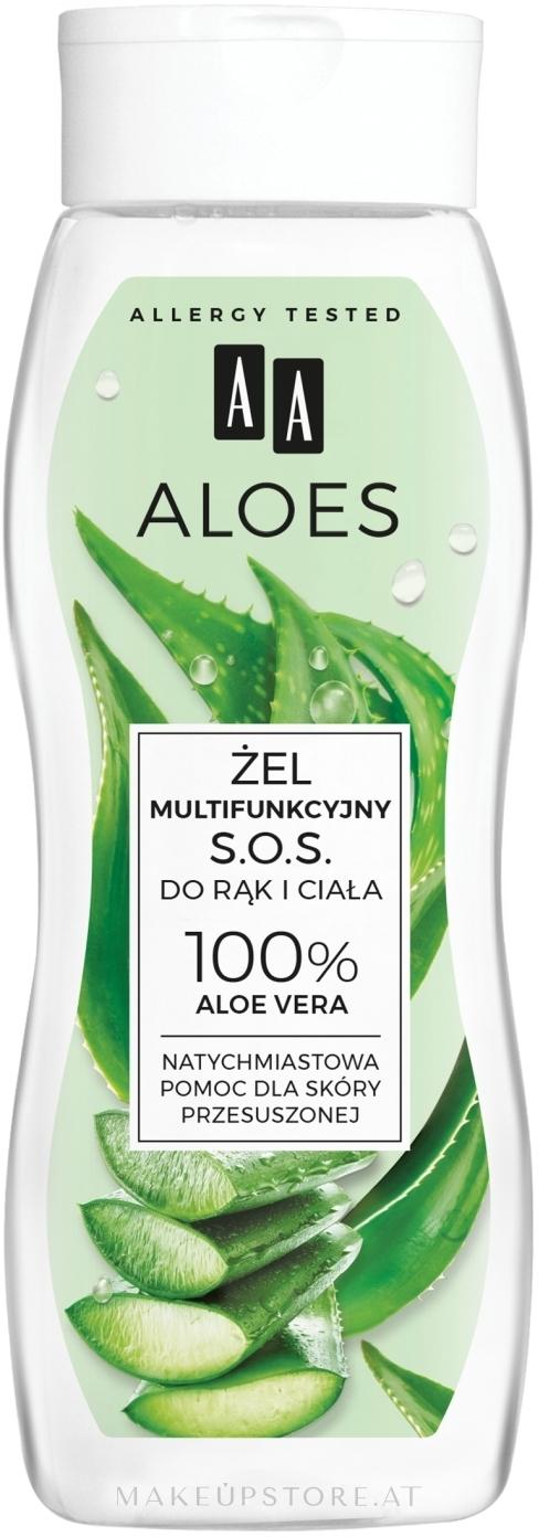 Multifunktionales Hand- und Körpergel mit 100% Aloe Vera - AA Aloes 100% Aloe Vera Hand And Body SOS Gel — Bild 250 ml