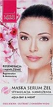 Düfte, Parfümerie und Kosmetik Regenerierendes und feuchtigkeitsspendendes Maske-Serum mit Kirschblütenextrakt - Czyste Piekno Face Mask Serum Gel