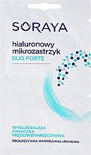 Düfte, Parfümerie und Kosmetik Anti-Falten Tuchmaske für das Gesicht mit Hyaluronsäure - Soraya Duo Forte Face Mask