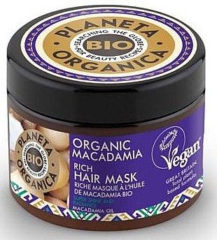 Haarmaske mit Macadamia - Planeta Organica Organic Macadamia Rich Hair Mask