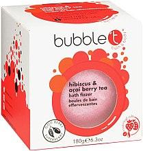Düfte, Parfümerie und Kosmetik Badebombe Hibiskus & Acai Beere - Bubble T Bath Fizzer Hibiscus & Acai Berry