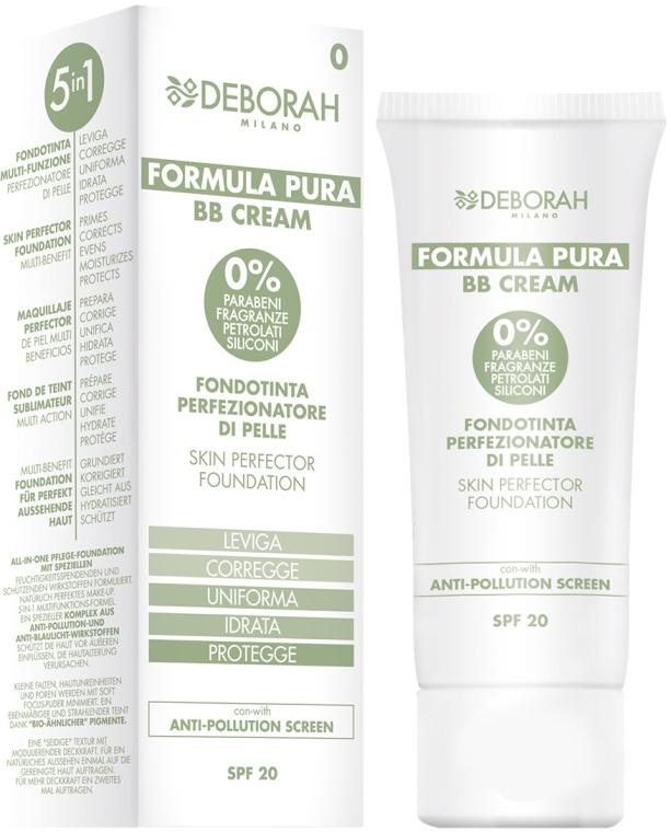 5in1 Multifunktionale BB Creme mit Schutz vor Umwelteinflüssen LSF 20 - Deborah Milano Formula Pura BB Cream