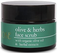 Düfte, Parfümerie und Kosmetik Aufweichendes Gesichtspeeling mit Olivenöl und Kräuterextrakten - Yellow Rose Olive & Herbs Face Scrub