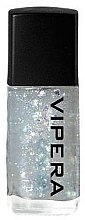 Düfte, Parfümerie und Kosmetik Nagelüberlack mit Metall-Effekt und glänzenden Partikeln - Vipera Top Coat Metal Effect