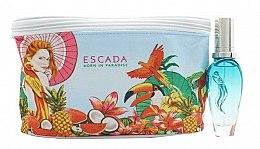 Düfte, Parfümerie und Kosmetik Escada Born in Paradise - Duftset (Eau de Toilette 30ml + Kosmetiktasche)