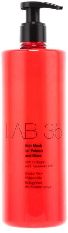 Haarmaske für mehr Volumen und Glanz mit Kollagen und Hyaluronsäure - Kallos Cosmetics Lab35 Mask — Bild N1