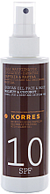 Düfte, Parfümerie und Kosmetik Bräunungsöl für Gesicht und Körper mit Nussbaum und Kokos - Korres Clear Sunscreen Body Face Walnut Coconut Oil SPF10