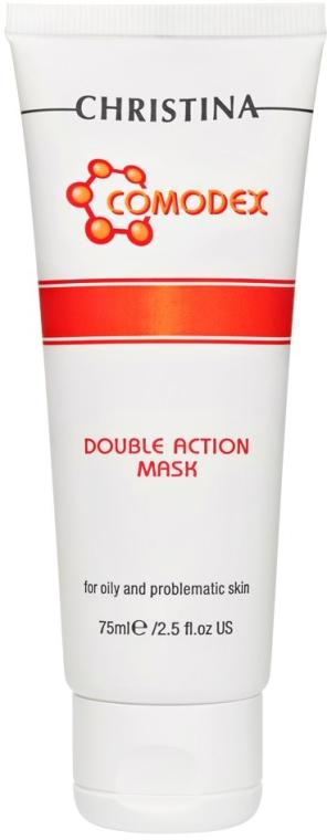 Beruhigende Gesichtsreinigungsmaske zur Entgiftung - Christina Comodex Double Action Mask