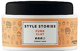 Düfte, Parfümerie und Kosmetik Modellierende Haarpaste Starker Halt - Alfaparf Style Stories Funk Clay Strong Hold