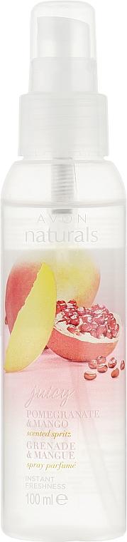 Erfrischender Körpernebel mit Granatapfel- und Mangoduft - Avon Naturals — Bild N1