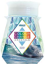 Düfte, Parfümerie und Kosmetik Raumduft-Gel mit farbwechselnden Kristallen und frischem Ozean-Duft - Airpure Colour Change Crystals Ocean Fresh