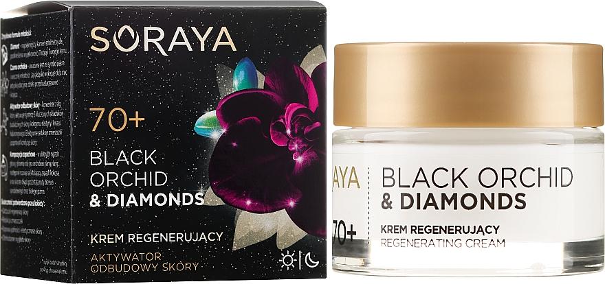 Regenerierende Gesichtscreme 70+ - Soraya Black Orchid & Diamonds 70+ Regenerating Cream