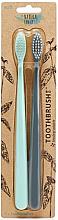 Düfte, Parfümerie und Kosmetik Zahnbürste mit biologisch abbaubarem Griff 2 St. - The Natural Family Co Bio Brush Rivermint & Monsoon Mist