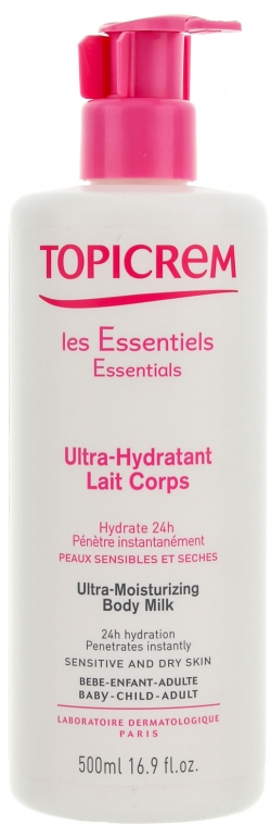 Ultra feuchtigkeitsspendende Körpermilch für empfindliche und trockene Haut - Topicrem Ultra Hydratante