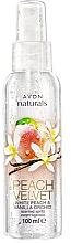 Düfte, Parfümerie und Kosmetik Parfümiertes Körperspray mit Pfirsich- und Vanilleduft - Avon Naturals Peach
