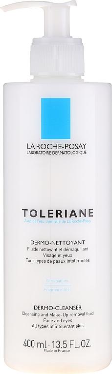 Reinigungsfluid zum Abschminken für Augen und Gesicht - La Roche-Posay Toleriane Dermo-Cleanser 200 ml — Bild N1