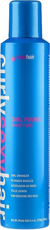 Schaum-Spray für tolle Locken - SexyHair CurlySexyHair Curl Power Spray Foam Curl Enhancer — Bild N1