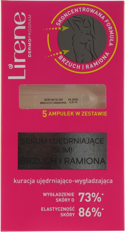 Straffendes Serum mit pflanzlichen Proteinen für Bauch und Hände - Lirene Slim Firming Serum Belly And Arms