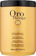 Düfte, Parfümerie und Kosmetik Regenerierende Haarmaske mit Arganöl - Fanola Oro Therapy Oro Puro Mask