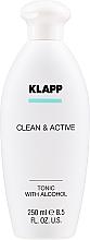 Düfte, Parfümerie und Kosmetik Belebendes Gesichtswasser mit Brennnessel-Extrakt - Klapp Clean & Active Tonic with Alcohol